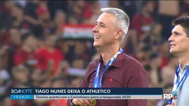 Tiago Nunes deixa o Athletico e aceita proposta do Corinthians - Técnico anunciou nesta terça-feira (05) que não comanda mais o time do Athletico.
