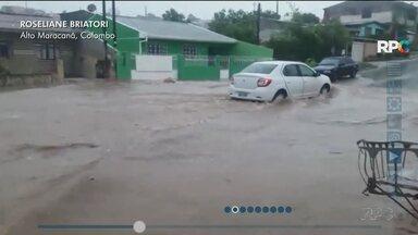 Virada no tempo causa estragos em Curitiba e região - Região metropolitana foi mais afetada.