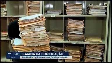 Justiça faz mutirão de audiências de conciliação em Araxá - A intenção é solucionar processos das áreas trabalhista e cível através de acordos. Estimativa é resolver de 30% a 50% dos casos até sexta-feira (8).