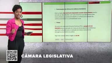 G1 no BDDF: CLDF aprova lei que proíbe uso de verba pública em homenagem à ditadura - Outros destaques: Servidor fantasma é condenado a devolver salários ao governo. DF terá ponto facultativo nos dias 13 e 14 de novembro.