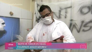 Israel recebe os convidados para a noite de terror - Engenheiro explica sua decoração