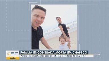 'Não escutava discussão, brigas', diz síndico sobre família encontrada morta em Chapecó - 'Não escutava discussão, brigas', diz síndico sobre família encontrada morta em Chapecó