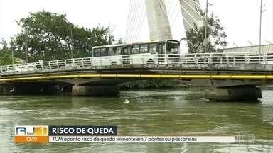 TCM aponta risco de queda em sete passarelas, pontes e viadutos do Rio - Segundo tribunal de contas prefeitura precisa tomar medidas emergencias. Município diz que reformas estão em andamento ou em fase de licitação.