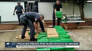 Policiais são presos em flagrante por escolta de mais de 1 tonelada de maconha - PM flagrou dois investigadores da capital em viatura no interior.