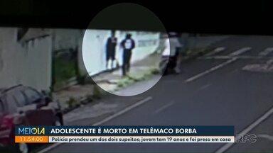 Adolescente é morto em Telêmaco Borba - Polícia prendeu um dos dois suspeitos; jovem tem 19 anos e foi preso em casa.