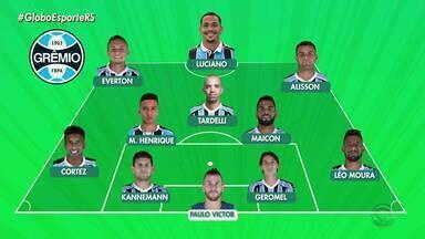 Confira a possível escalação do Grêmio para a partida contra o CSA - Assista ao vídeo.
