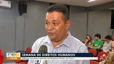 Semana de direitos humanos debate ditadura militar no Cariri - Saiba mais no g1.com.br/ce