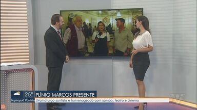 Dramaturgo Plínio Marcos é homenageado com samba, teatro e cinema - Projeto 'Plínio Marcos Presente' homenageia o dramaturgo santista no Paço Municipal de Santos.