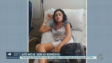 Apesar de decisão, moradora de Hortolândia segue à espera de remédio de alto custo - Mulher precisa de medicamento para tratamento da doença de Crohn.