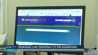 Procon de Guarapuava faz mutirão online para resolver problemas de telefonia - Mutirão segue até o dia 20 de Novembro.