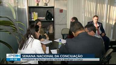 JPB2JP: Semana Nacional da Conciliação: possibilidade de acordos rápidos - Objetivo também de desafogar a Justiça.
