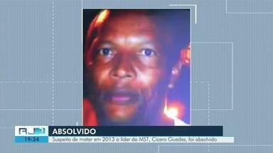 Suspeito de matar líder do MST, Cícero Guedes, é absolvido - Crime aconteceu em 2013.