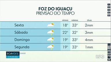 Previsão de chuva e tempo quente nesta sexta-feira - As temperaturas passam dos 30 graus em várias cidades da região.