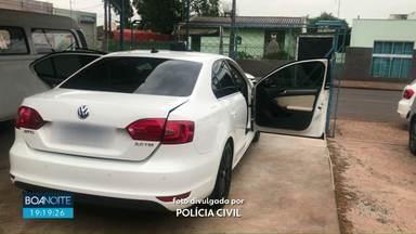 Polícia prende suspeito de atirar na casa de policial civil - Em um carro apreendido polícia encontrou munição
