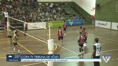 Equipes disputam semifinais do masculino e feminino da Copa TV Tribuna de Vôlei Escolar - Partidas acontecem no ginásio do Complexo Esportivo Rebouças.