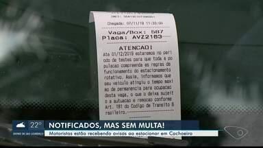 Veículos, em Cachoeiro de Itapemirim, são notificados sobre rotativo, no Sul do ES - Taxa ainda não é cobrada.