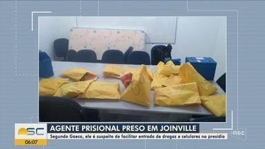Agente prisional é preso suspeito de facilitar entrada de itens em presídio de Joinville - Agente prisional é preso suspeito de facilitar entrada de itens em presídio de Joinville
