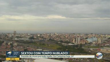 Máxima de 29°C com previsão de chuva em Campinas - Veja como fica a previsão do tempo nas regiões de Campinas e Piracicaba.