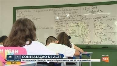 Secretaria de Educação tem inscrições abertas para contratação de ACTS em SC - Secretaria de Educação tem inscrições abertas para contratação de ACTS em SC