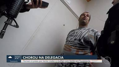 Homem é preso por suspeita de tentar matar a mulher com facão em Teresópolis, no RJ - Caso aconteceu na madrugada de quarta-feira (6).