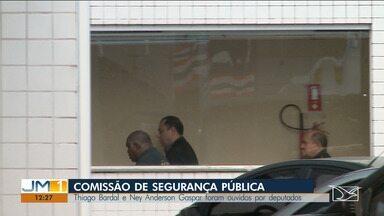 Ex-delegado Thiago Bardal é ouvido por deputados federais da comissão de segurança pública - O delegado licenciado Ney Anderson Gaspar também foi ouvido. Os dois falaram sobre as investigações de escutas telefônicas ilegais de magistrados e políticos que teriam sido ordenadas pelo secretário de Segurança Pública do Maranhão, Jefferson Portela.