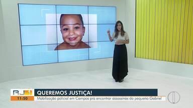 Polícia busca suspeitos de matar avô e neto de 5 anos em Campos, no RJ - Um homem suspeito de participar do crime foi detido.