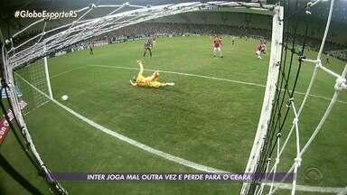 Inter perde para o Ceará e está em 8º no Brasileirão - Assista ao vídeo.