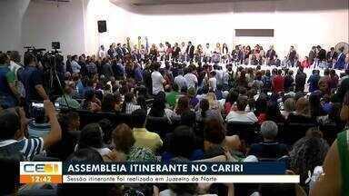 Sessão itinerante da Assembleia Legislativa é realizada em Juazeiro do Norte - Saiba mais no g1.com.br/ce