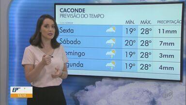 Veja como fica o tempo neste fim de semana na região - Previsão é que São Carlos registre máxima de 29ºC.