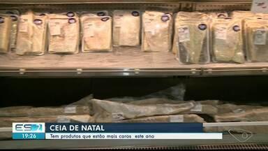 Produtos usados na ceia de Natal estão mais caros neste ano, no Sul do ES - Confira a opinião dos consumidores.