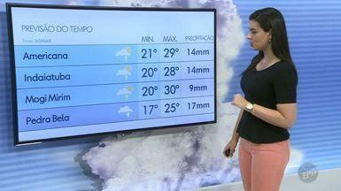 Veja a previsão do tempo para as cidades da região de Campinas e Piracicaba neste sábado - Com Sol entre nuvens, Campinas registra máxima de 29ºC.