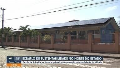 1ª com energia autossuficiente, escola de Joinville se destaca no quesito sustentabilidade - Primeira com energia autossuficiente, escola de Joinville se destaca no quesito sustentabilidade