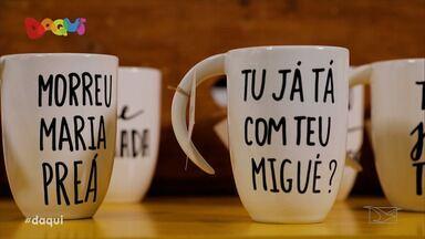 Economia criativa gera renda e novos produtos para São Luís - Canecas, camisas e porcelana são feitos com a cara da cultura do Maranhão.
