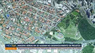 Mapeamento aeroespacial detalha relevo, hidrografia e sistema viário de Curitiba - Imagens em 3D vão ajudar no desenvolvimento de projetos.