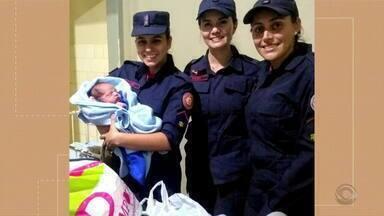 Bombeiros de Santana do Livramento auxiliam no nascimento de um bebê - Mãe foi surpreendida quando estourou a bolsa.