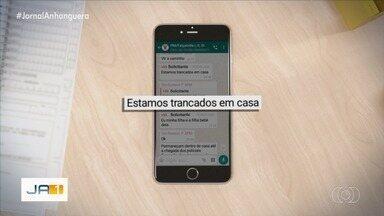 Mulher troca mensagens com PM e consegue evitar assalto em Goiânia - Ela acionou a corporação por um app de mensagens.