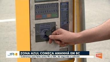 Em Balneário Camboriú, começa o uso da Zona Azul - Em Balneário Camboriú, começa o uso da Zona Azul