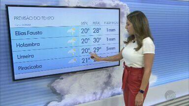 Confira a previsão do tempo para as cidades da região de Campinas e Piracicaba nesta terça - Com sol entre nuvens, Campinas (SP) registra máxima de 28ºC.