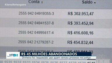 Corregedoria de Goiás diz que há R$ 45 milhões de reais 'abandonados' em Goiás - O dinheiro é de pessoas que entram na Justiça com processos trabalhistas, vencem a causa, e esquecem de resgatar o dinheiro.