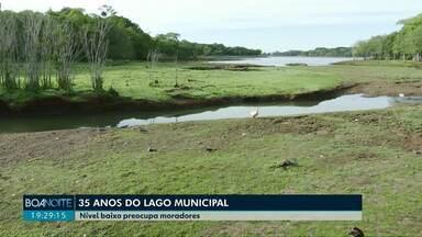 Lago municipal de Cascavel completa 35 anos - Estiagem muda a paisagem do principal cartão postal da cidade e preocupa moradores.