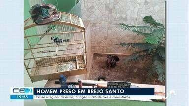 Homem preso por crimes ambientais em Brejo Santo - Confira mais notícias em g1.globo.com/ce
