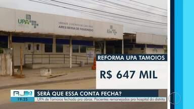 UPA de Tamoios é fechada pra obras e pacientes são remanejados para hospital do distrito - Pacientes reclamam de demora no atendimento nesta segunda (11).