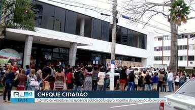 Câmara discute impactos da suspensão do programa Cheque cidadão em Campos - Audiência Pública foi nesta segunda-feira (11).