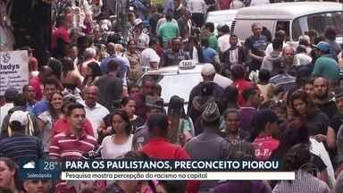 Pesquisa revela desigualdade racial no estado de São Paulo - No estado de São Paulo, pouco mais de 39% da população se declara preta ou parda. Na capita, 18% dos negros vivem em favelas, índice muito maior do que entre a população branca.
