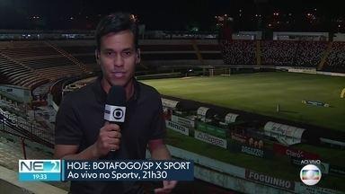 Sport joga contra Botafogo em São Paulo - Partida é realizada em Ribeirão Preto.
