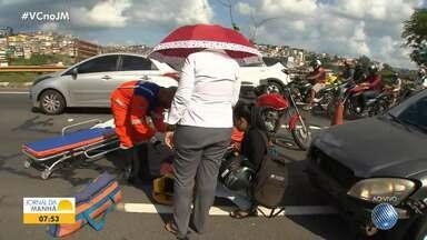 Obras e acidentes deixam o trânsito complicado em Salvador - Confira também outros pontos da capital baiana.