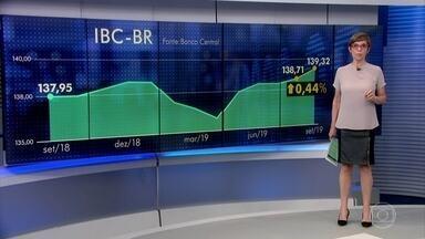 IBC-BR indica crescimento na economia de 0,47% em setembro na comparação com agosto - Indicador do Banco Central serve como prévia do PIB. Ele tem uma metodologia diferente da usada pelo IBGE, que faz a medição oficial do dado.