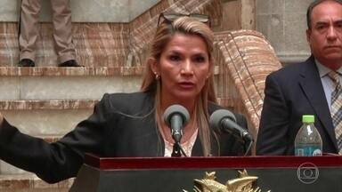 Presidente interina da Bolívia diz que Morales não pode participar das próximas eleições - Jeanine Añes declarou que apesar do ex-presidente não poder participar das eleições, o partido dele poderá. Añes promete realizar um novo pleito em menos de 90 dias.
