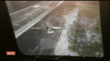 Avião cai em Barra Grande (BA) e deixa um morto - Outras nove ficaram feridas, entre elas o ex-piloto da Stock Car, Tuka Rocha e parentes do deputado paulista, Guilherme Mussi.
