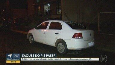 Homem é preso em Ribeirão Preto por suspeita de aplicar golpe para sacar PIS-Pasep - Polícia Militar diz que suspeito falsificava documentos para obter benefícios de trabalhadores.
